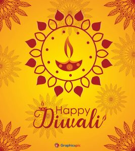 Bright and richly Happy Diwali vector, background & picture
